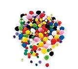 Baker Ross Mini Bunt Pom Poms Sparpackung - Ideal für Kunst und Kunsthandwerk für Kinder, Weihnachten, Geschenke, Andenken und mehr (Packung mit 500...