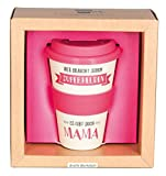 Grafik Werkstatt Deckel | Kaffee-Becher | Coffee 400 ml | -to-go | Superhelden Mama, beige, 9 x 9.5...