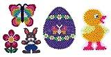 Happy Price Toys Midi Stiftplatten Set 21 - Oster Set 2 - Küken,Ei,Häschen,Blume,Schmetterling + 100 Gratis Perlen