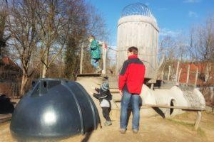 Ein tolles U-Boot auf dem Spielplatz in Zellingen.