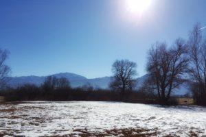 Faszinierend, diese Mischung aus Schnee, Nebel und Sonne.