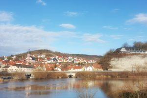 Traumhafter Blick auf Retzbach am Main.