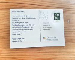 myPostcard App_Postkarte_Rückseite