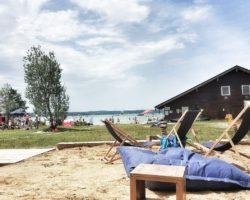 Blick von der Strandbar zum Starnberger See.