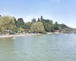 Blick auf das Strandbad am Ammersee.