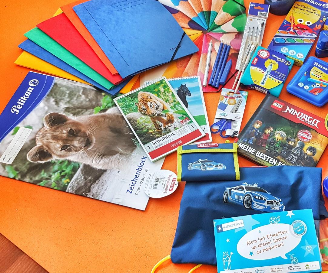 Materialien für den Schulstart