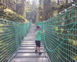 Coole Hängebrücke bei der Wanderung Uff d´r Alp.