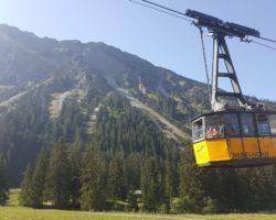 Mit der Gondel auf das Nebelhorn.