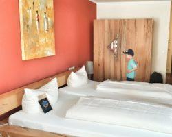 Unser Zimmer im Hotel MOHREN.