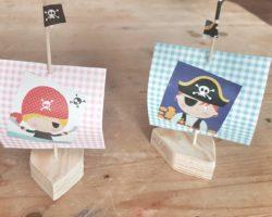 Piratenschiffe basteln.