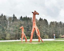 Giraffen grüßen die Besucher des Buchheim-Museums