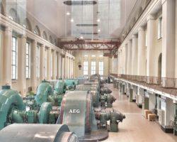 Maschinenraum Wasserkraftwerk Kochel