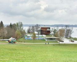 Traumhafter Blick auf das Museum und den Starnberger See