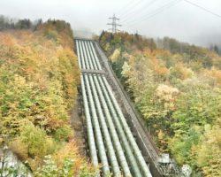Wasserrohre Wasserkraftwerk Kochel