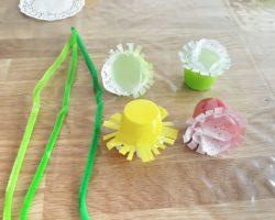 Frühlings-Upcycling-Deko aus Jogurtbechern-5