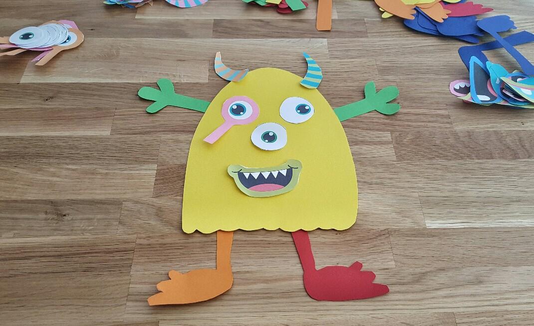 Lustige Monster zum Selberkleben bei der Monsterparty