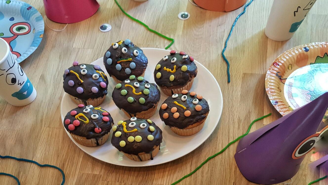 Monstermuffins zum Kindergeburtstag