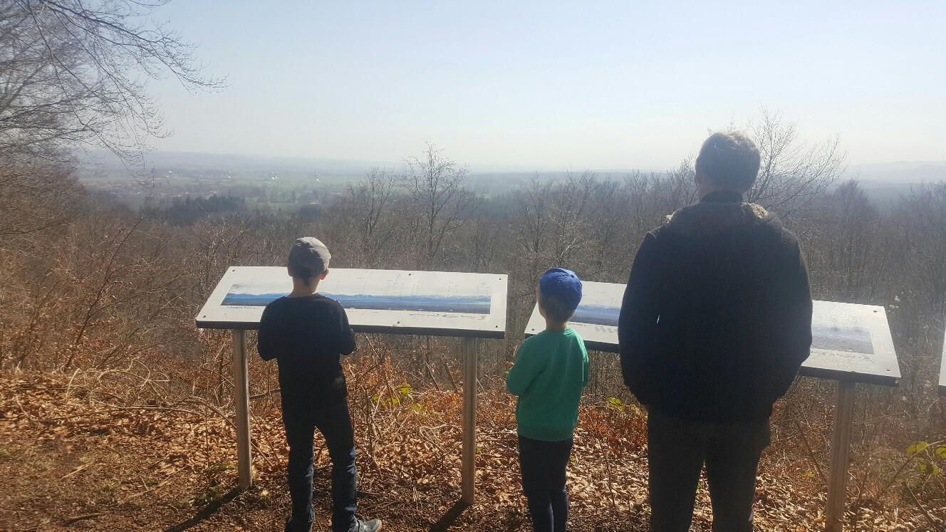 Aussichtspunkt beim Burgwaldlehrpfad Dießen
