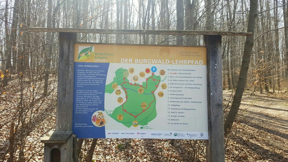 Startpunkt des Burgwald-Lehrpfads