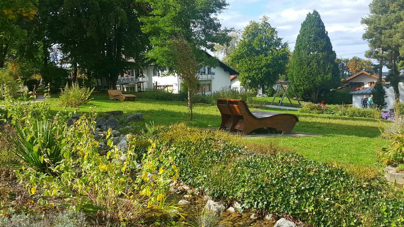 Ruheliege im Kräuter-Erlebnis-Park Bad Heilbrunn