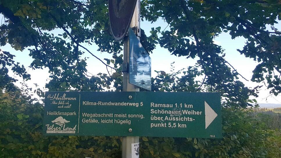 Startpunkt Wandern in Bad Heilbrunn