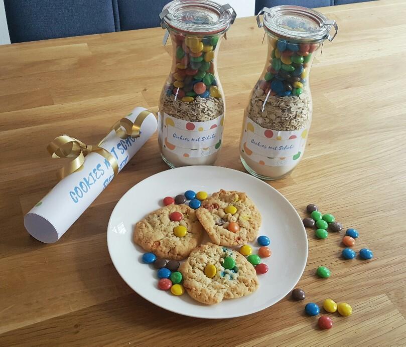 Einfache Backmischung im Glas Cookies selber machen.