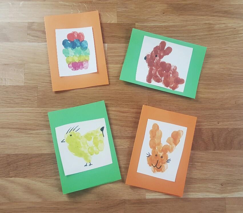 Karten mit Osterhase, Küken oder Eiern bedrucken