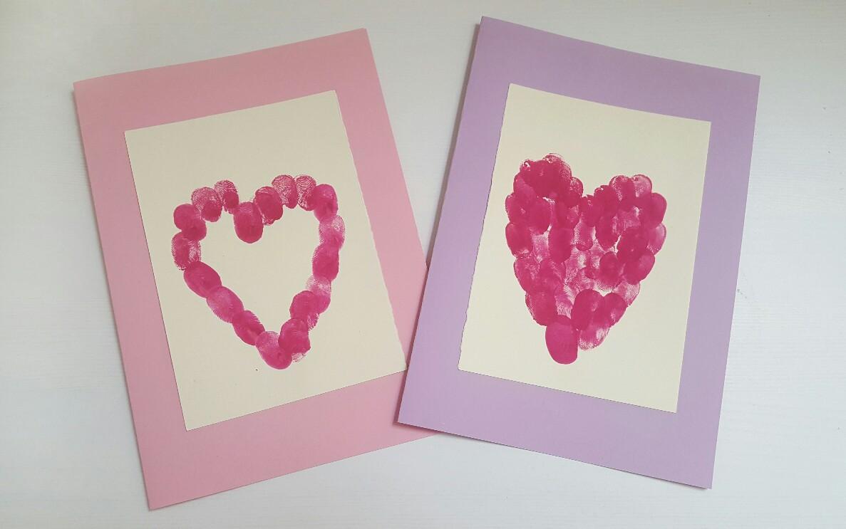 Süße Muttertagskarten mit Fingerabdrücken