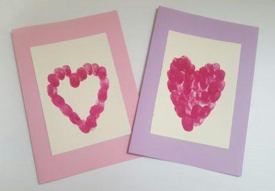 Herz-Karte zum Muttertag basteln